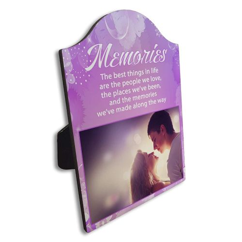 Personalised Memories Arch Top Photo Panel Frame Gift